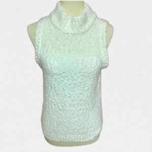80s vintage soft fluffy white sweater shell
